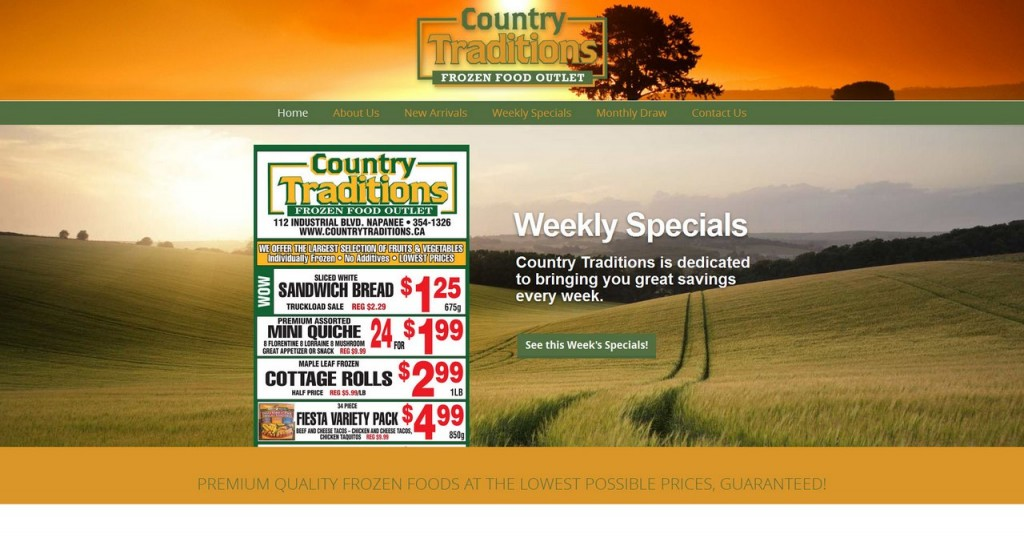 Country Traditions Website Design ScreenShot