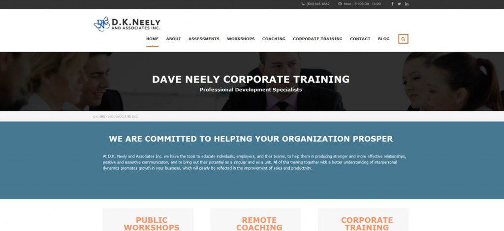 Dave Neely Corporate Training website design