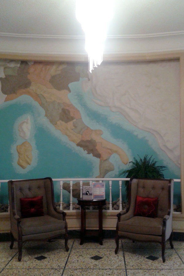 Italo-Canadian club Kingston hall Italy map