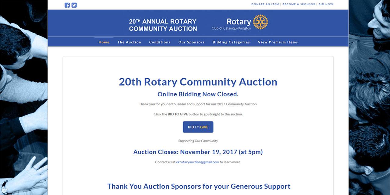 rotary club community auction website response i t web design