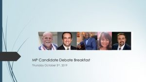 Kingston & the Islands MP Candidates Breakfast